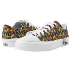 Colorful Abstract Pattern Low-Top Sneakers - patterns pattern special unique design gift idea diy