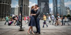 engagement pictures on state street in chicago illinois
