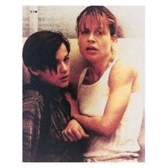 5aee83eef46b5 EDWARD FURLONG AS JOHN CONNOR, LINDA HAMILTON AS SARAH CONNOR FROM  TERMINATOR 2  JUDGMENT DAY  1 - COLOUR Movie Photo - LARGE wall POSTER Size  Print - SIZE ...