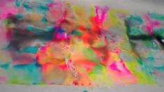 Dyeing fabric with Sharpies and alcohol filmed at the Houston Quilt Market 2010, via YouTube.