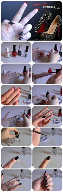 Louboutin Studded Nails by Toxic Vanity