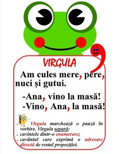 Semne de punctuație - Virgula Education Quotes, Kids Education, Romanian Language, Homework Sheet, Fairy Tales For Kids, Teacher Supplies, School Staff, Math For Kids, School Lessons