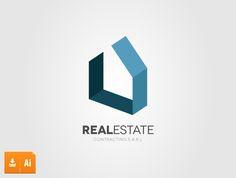 3d real estate vector logo                                                                                                                                                      More