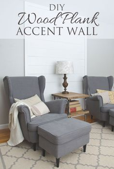 DIY wood plank accent wall - thegoldensycamore...