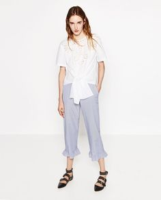How To Wear This Season's Most Daunting Trend: Frilled Trousers