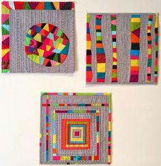 Pretty stitching! http://bluemountaindaisy.blogspot.com/2014/09/a-trio-of-quilts.html