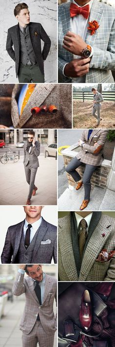 Yes we might just be a little mad for men in plaid! These modern day country squires show you how your guy can add a bit of causal flair to their wedding outfit. Perfect for a fall or winter wedding. www.gembycarati.com www.facebook.com/gembycarati