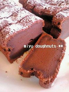 simple and rich chocolate cake 簡単*超濃厚チョコケーキ Cute Desserts, Sweets Recipes, Chocolate Desserts, Cake Recipes, Chocolate Cake, Love Eat, Love Food, Fun Food, Easy Sweets