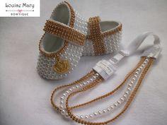 Conjunto Luxo Sapatinho e Tiara Princesa