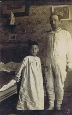 ca. 1890′s, great photo of early sleep-wear, subjects unknown.