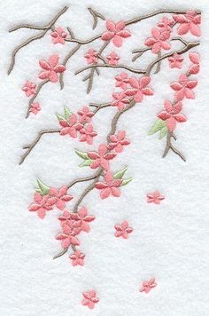 Resultado de imagem para desenhos  de flor de cerejeira para bordados