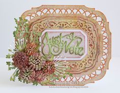 Designs by Marisa: Just a Note Card - Craft Dies by Sue Wilson