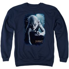 """Checkout our #LicensedGear products FREE SHIPPING + 10% OFF Coupon Code """"Official"""" The Hobbit / Gollum Poster - Adult Crewneck Sweatshirt - The Hobbit / Gollum Poster - Adult Crewneck Sweatshirt - Price: $39.99. Buy now at https://officiallylicensedgear.com/the-hobbit-gollum-poster-adult-crewneck-sweatshirt"""