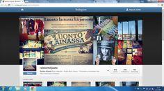 Kirjaston instagram-sivu