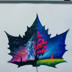 Great Leaf Art by (Douyin) Painted Leaves, Painting On Leaves, Leaf Art, Acrylic Art, Art Sketchbook, Resin Crafts, Painting Techniques, Art Tutorials, Painting Tutorials
