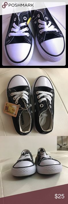 Converse Classic NWT BEAUTIFUL AND COMFORTABLE Classics! A pair of toddler Converse sneakers that my daughter received as a gift but we're a size too small. Black with laces. Was tried on but never used. No box just the original tag. Converse Shoes Sneakers
