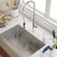 """Found it at AllModern - Stainless Steel 33"""" x 20.75"""" Farmhouse Kitchen Sink with NoiseDefend™ Soundproofing"""