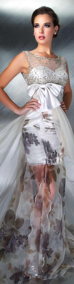 SO DIFFERENT AND GORGEOUS..Mac Duggal couture dress beige COUTURE DRESSES  STYLE 55002D <3