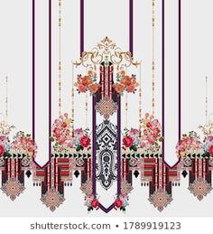 Portfólio de fotos e imagens stock de textile inspiration 02 | Shutterstock Folder Design, Textiles, Botanical Flowers, Media Design, Pattern Art, Textile Design, Your Design, Illustration, Vector Free