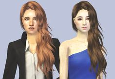 """Martini's conversion of Anto's hair """"Glare"""" edited and converted for males too. I lowered the polycount to about 14k~, which is not really a great number, but compared to 32k…yeah. Edited the back of..."""