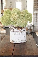 Love - hydrangeas in antique jug -- so simple yet makes a statement