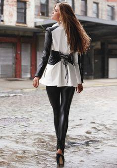 I want these...  bebe | Zipper Front Wet Leggings - Bottoms - Leggings