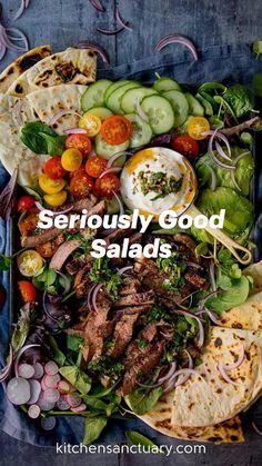 Summer Recipes, New Recipes, Cooking Recipes, Rabbit Food, Chopped Salad, Vegetable Salad, Saveur, Healthy Salad Recipes, Summer Salads
