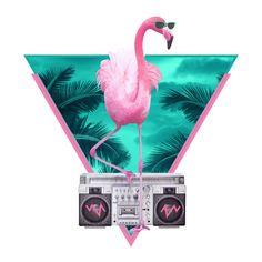 """Róbert Farkas """"Flamingo""""  wall decal"""