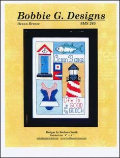 Ocean Breeze is the title of this cross stitch pattern from Bobbie G Designs that promises to be a fun summer stitching project,