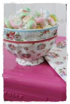 Greengate bowls of lovely sweets