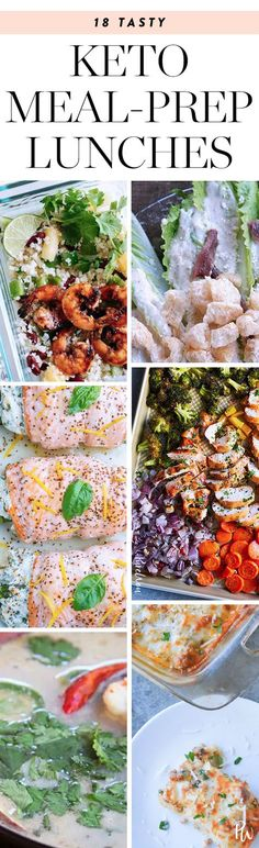 18 Ketogenic Meal-Prep- these are actually all seasoned well and look delicious