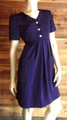 NWT CAROLINE WELLS PLUM SIZE 6 DRESS  #CAROLINEWELLS #WeartoWork