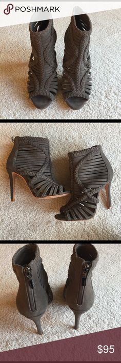 Schutz Suede Tokyo Heels Real Suede caged heels! Lightly worn and still in excellent condition. SCHUTZ Shoes Ankle Boots & Booties