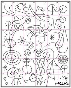 Joan Miro Mural · Art Projects for Kids - Kunstunterricht Art Lessons For Kids, Projects For Kids, Art For Kids, Art Projects, Art Children, Arte Elemental, Joan Miro Paintings, Ecole Art, Art Africain