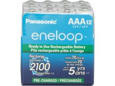 #NewEgg: Panasonic BK-4MCCA12SA 12-pack AAA eneloop Rechargeable Batteries for $21.99 AC & More  FS @ Newegg.com #LavaHot http://www.lavahotdeals.com/us/cheap/panasonic-bk-4mcca12sa-12-pack-aaa-eneloop-rechargeable/64708