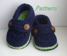 Easy Crochet Pattern Baby Loafers Baby Booties di Beatifico