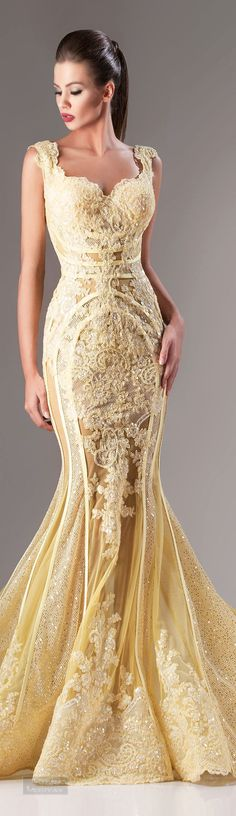Glamour gown....You've gotta be kidding me. This dress is off the hook. Hanna Toumajean Fall-winter 2014-2015.