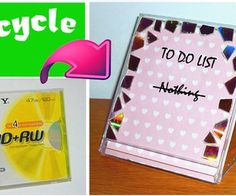 DIY - Dry erase zoznam úloh z CD boxom!  (Projekt recyklácia)