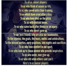 TO ALL US SOCCER PLAYERS! #soccer #USWNT #love #thegame #abbywambach #alexmorgan #hopesolo #sydneylaroux #tobinheath #passion