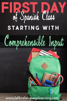 Back to school in Spanish class just got easier. Lesson plans, activities and tips for Spanish teachers to learn how to use Comprehensible Input from Day Spanish Classroom Decor, Spanish Classroom Activities, Spanish Teaching Resources, Classroom Ideas, Spanish Worksheets, Spanish Lesson Plans, Spanish Lessons, Spanish 1, Learn Spanish