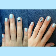 I think Stan may have left a paw print on my nails...   #GHannelius #DWAB #NailArt