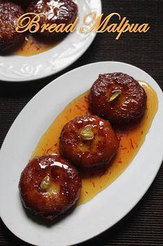 YUMMY TUMMY: Easy Bread Malpua Recipe / Stuffed Malpua Recipe - Easy Diwali Sweets Recipes