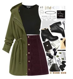 """""""Untitled #220"""" by waliflower ❤ liked on Polyvore featuring Paul Andrew, Oasis, Topshop, Marc by Marc Jacobs, NARS Cosmetics, Valentine Goods, Eres, Akris, Gerbe and Noir Cosmetics"""