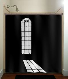 Creepy shower curtain http://www.etsy.com/listing/153588841/shadow-light-mansion-castle-window-of