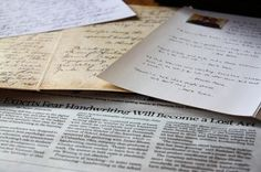 Writing cursive letters article