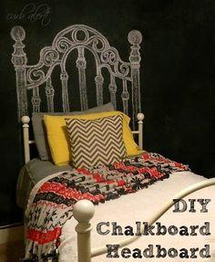 Teen Room: DIY Chalkboard Headboard