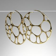 """A pair of 18k yellow gold """"Aerin"""" hoops"""