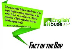 Did you know that #India is actually one of the largest #English speaking populations in the #world?