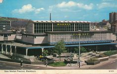 "bluecote:  ""blackburn indoor market  (now demolished)  """
