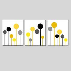 Modern Lollipop Trio  Set of Three Playful 8x10 by Tessyla on Etsy, $55.00